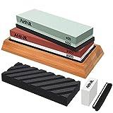 Knife Sharpening Stone Set - 4 Side Grit 400/1000