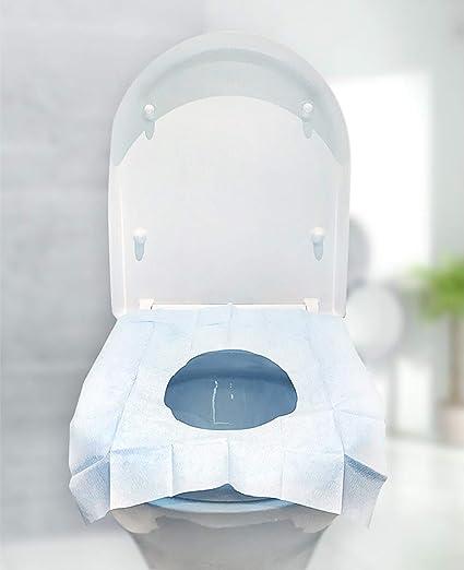 Reductor de inodoro para niños, de viaje, portátil, plegable, reutilizable, de usar y tirar, 10 unidades 50 copri wc usa e getta