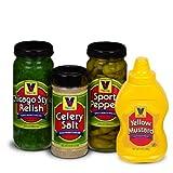 vienna hot dog relish - Vienna Chicago-Style Condiment Kit (1 Jar Yellow Mustard, 1 Jar Green Relish, 1 Jar Sport Peppers, 1 Jar Celery Salt)