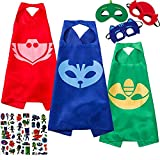 NuGeriAZ Costumes and Dress up for Kids - Halloween Capes and Masks Compatible Superhero Capes Best Gift for Kids