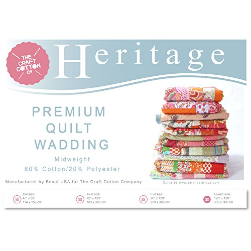 Craft Cotton 3521-03 Heritage Premium Midweight Wadding | Full Size | 229x305cm by Craft Cotton Company