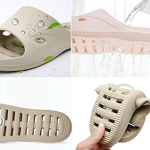 amp;kate Cuatro Ocasional William Verano De Casa Dormitorio Pareja Algodón Caqui Zapatos Lino Zapatillas Unisex Estaciones dnnva