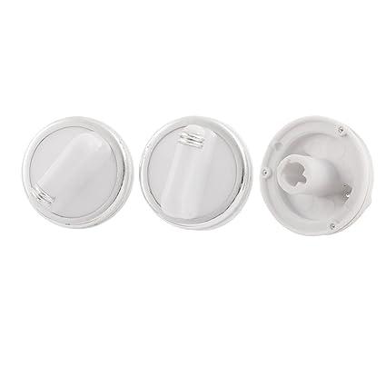 Baño Calentador de agua de plástico de control del interruptor perilla de temperatura Cabeza x 3