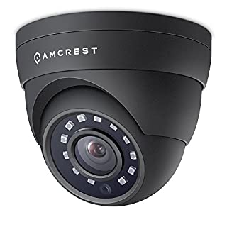 Amcrest 4MP POE Camera Dome, Security Outdoor IP Camera - IP67 Weatherproof, 98ft Night Vision, 118° FOV, Remote Live Viewing, 4-Megapixel (2688 TVL), IP4M-1055E (Black)