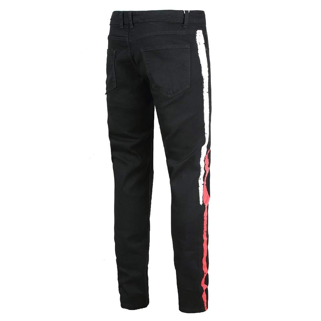 Uxingyio Fashion Slim Fit Jeans for Men,Denim Pants,Slim Fit Jeans for Men