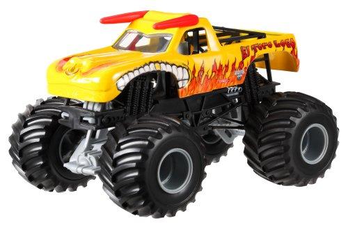 Hot Wheels Monster Jam El Toro Loco Yellow Die-Cast Vehicle, 1:24 Scale