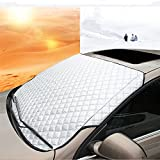 #10: Laprive Auto Car Windshield All Weather Snow Cover & Sun Shade Protection Cover Fits Most of Car
