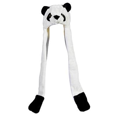 TheCuteHats Panda Hat with Long Mittens Plushy Animal Cap: Toys & Games