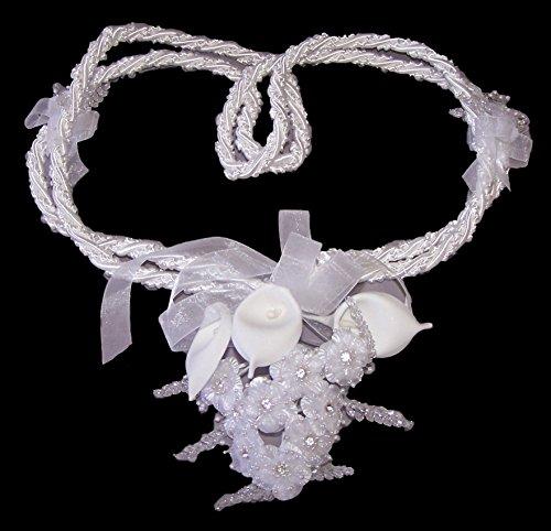 Bridal Lassos Wedding Lassos Lazos De Boda Hand Made In USA- White (ALasso2W)