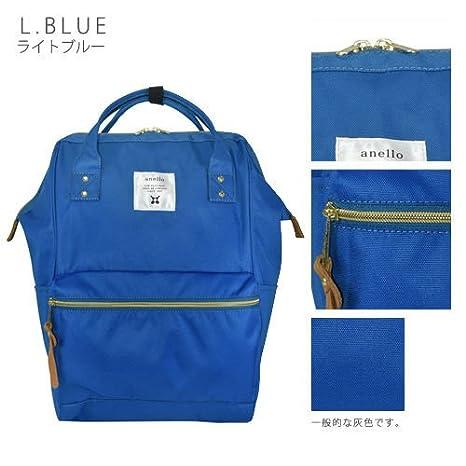 Japón Anello Original mochila mochila unisex lienzo calidad mochila escolar campus azul: Amazon.es: Oficina y papelería