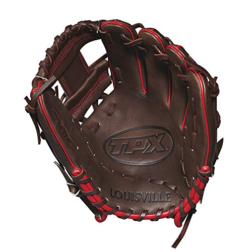 Louisville Slugger 2018 Tpx Infield Baseball Glove - Right Hand Throw Dark Brown/White/Red, 11.5