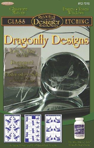 Dragonfly Stencil (Armour Etch Designer Stencil Pak Dragonflies)