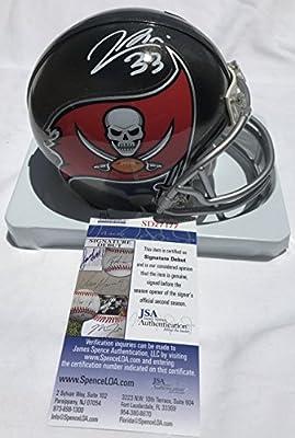 Jeremy McNichols Signed / Autographed Tampa Bay Buccaneers Mini Football Helmet - JSA Certified