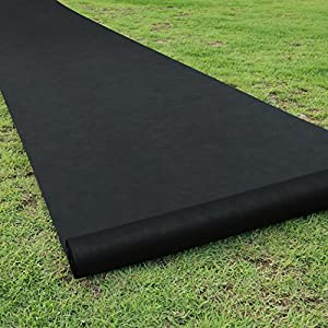 Becko Garden Weed Barrier Landscape Fabric, 80g Heavy Duty Foldable Horticultural Pad for Raised Bed, Ground Cover, Soil…