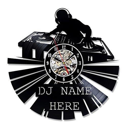 DJ regalo decoración de vinilo Reloj de pared Arte Home Design Música