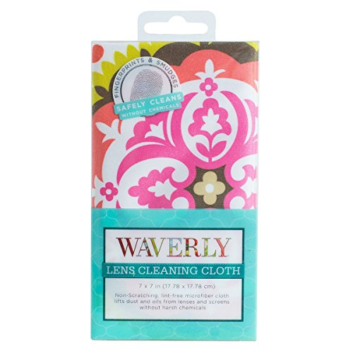 Glasses and Lens Cleaning Cloth - Soft and Gentle Microfiber - Reusable and Machine Washable Cleansing Wipe For Camera and Eyeglasses Lenses - By Waverly