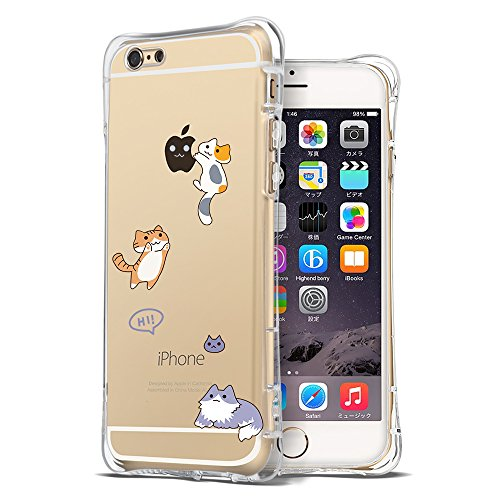 Iphone 6S Case  Ultra Transparent Thin Slim Bumper Shockproof Cute Funny Case Clear With Design Cat Animal Protective Cover Girly For Apple Iphone 6 6S 4 7 Inch