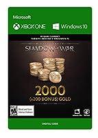 Middle-Earth: Shadow of War – 2000 (+200 Bonus) Gold - Xbox One [Digital Code]