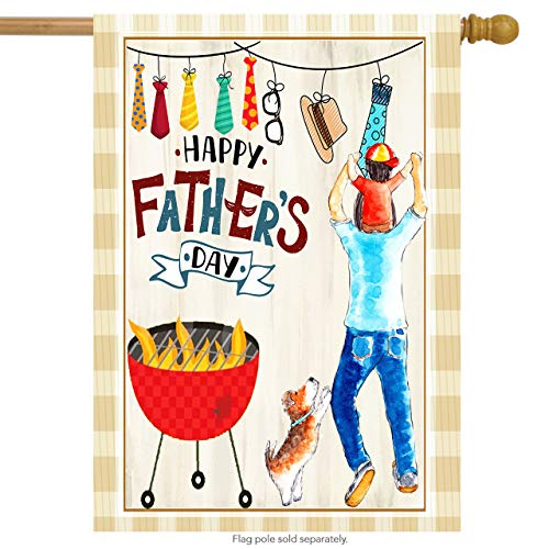 Wamika Happy Fathers Day Best Dad Double Sided House Flag Garden Banner 28