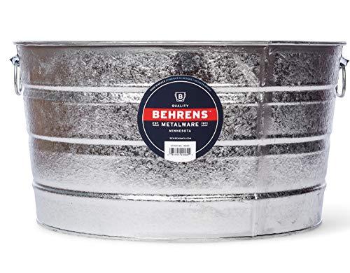 Behrens 1, 11-Gallon Round Steel Tub from Behrens