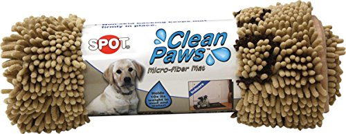 Paw Clean Mat (Ethical Pets Ethical Pet Clean Paws Microfiber Dog Mat 31 x 20 Tan)