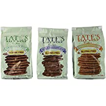 Tate's Bake Shop, Gluten Free Cookie Variety Pack, Inculding Chocolate Chip, Double Chocolate, & Ginger Zinger