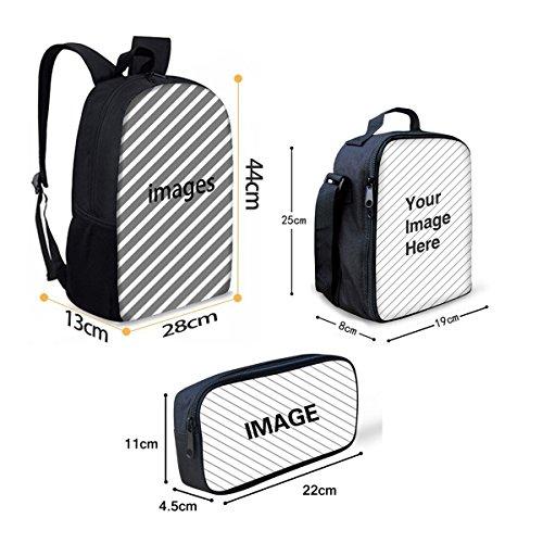 Basketball Print Kids Boy Backpack School Bookbag Lunch Bag Pencil Bag 3 Pieces Set by Mumeson (Image #1)