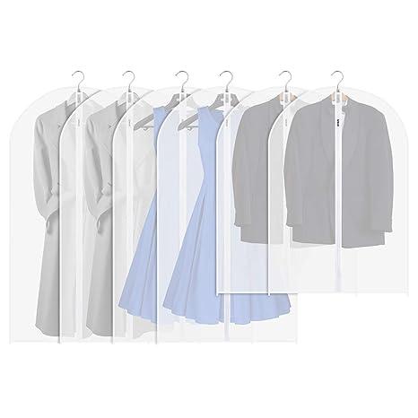 c82f0d9651 Garment Bag Suit Bag(Pack of 6) - Orange Tech Translucent Garment Cover with