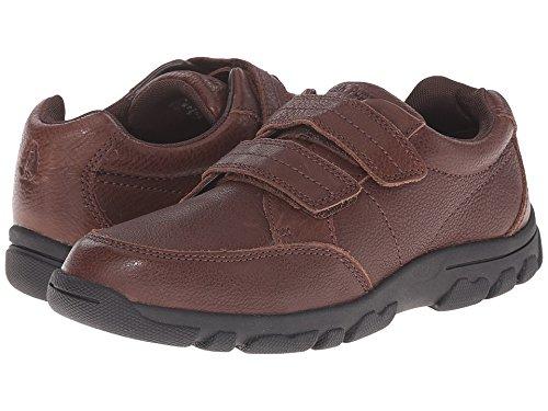 Hush Puppies Jace Uniform Oxford (Toddler/Little Kid/Big Kid), Brown, 13.5 M US Little (Boys Brown Leather Shoes)