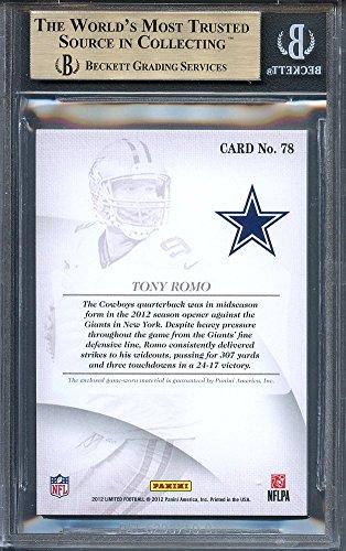 Amazon Com 2012 Limited Threads 58 Tony Romo 99 Dallas Cowboys Bgs