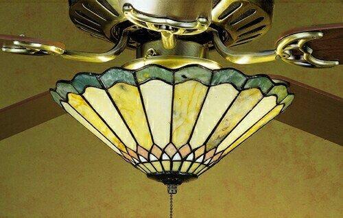 Meyda Tiffany Jadestone Carousel 3 Light Ceiling Fan Light