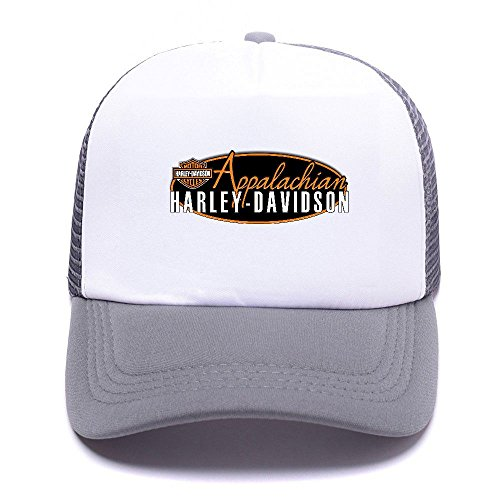 Harley D Black Baseball Caps Gorras de béisbol Trucker Hat Mesh Cap For Men Women Boy Girl 003 Gray