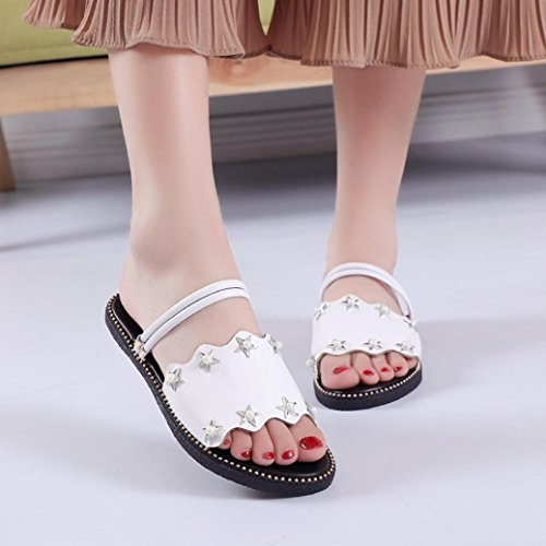 Beach Sandals Slipper for Wide Peep Women Diamante Strappy Glitter White Lolittas Shoes Fit Outdoor Ladies 7 Jewelled Star Slingback 2 Size Flat Sparkly Summer Toe wqXxYI7