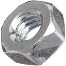 Steel Hex Nut, Zinc Plated Finish, Right Hand Threads, Meets ASME B18.6.3, Inch