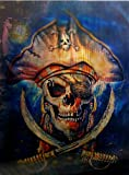 PIRATE UNFRAMED Holographic Wall Art-POSTERS That FLIP and CHANGE images-Lenticular Technology Artwork--MULTIPLE PICTURES IN ONE--HOLOGRAM Images Change--by THOSE FLIPPING PICTURES