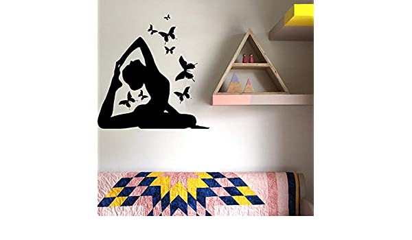 jiushivr Tatuajes de Arte de Pared de Postura de Yoga Decoración ...