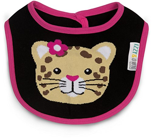 Izzy and Owie One Size Fits All Jungle Cat - Black Cat Bib