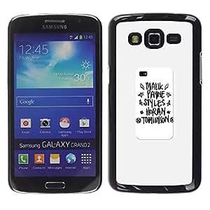 TopCaseStore / la caja del caucho duro de la cubierta de protección de la piel - Poster School Text - Samsung Galaxy Grand 2 SM-G7102 SM-G7105