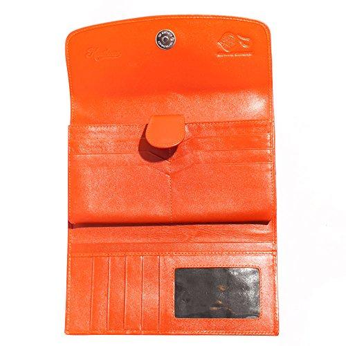 Cartera Moneda Cuero La Raya De De De Postal Organizador Cartera Genuina De De La Tarjeta Mano Tríptico UqF0O