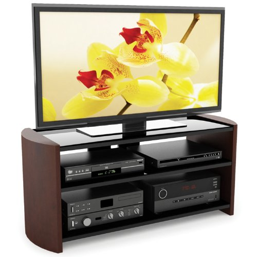 Sonax ML-3499 Milan 49-Inch TV Stand with Wood Veneer Uprigh