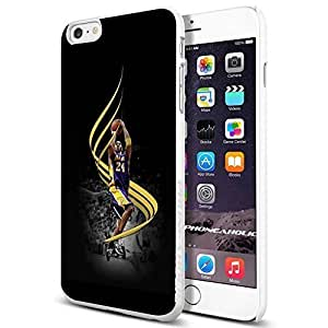 Basketball NBA KOBE Bryant Los Angeles Lakers LA,Cool iphone 5c Smartphone Case Cover Collector iphone TPU Rubber Case White