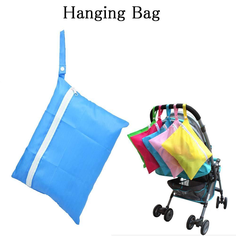 seca y h/úmeda Bolsa de algod/ón para colgar Organizador de almacenamiento lavable impermeable F/ácil de colgar para viajar Guarder/ía para beb/és Yellow Bolsas de pa/ñales para beb/és