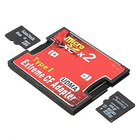 ELEGIANT Dual Port Micro SD/SDXC TF a Compact Flash CF Type ...
