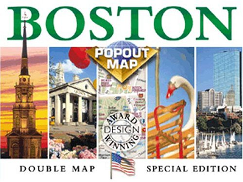 Boston Popout Map: Greater & Downtown Boston, Beacon Hill, Harvard Square, Subway (Popout - Downtown Boston
