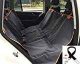 Pet Dog Car Backseat Cover Waterproof Back Seat Barrier – Foldable Dog Travel Mat Adjustable Lightweight Hammock for Car SUV Trucks Clean Protection! (Large, Grey) Review