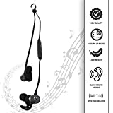 Bluetooth Wireless Earbuds Headphones Magnetic Earphones   CVC 6.0 Noise Cancelling, Apt-X Crisp Stereo Sound   Sweatproof, Comfy Fit Neckband   8 Hours For Sports, Indoors & Outdoors iPhone & Android
