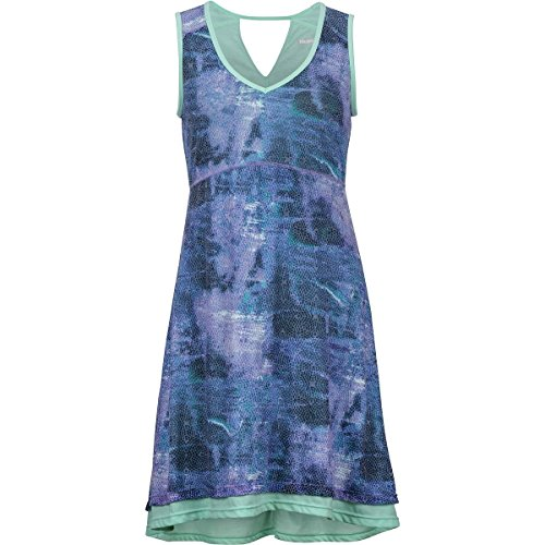 Marmot Women's Larissa Dress Clear Sky Sprinkle Small - Larissa Dress