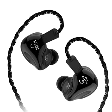 KZ ZS4 Earphones Yinyoo Over Ear Noise Cancelling Headphones High Fidelity Stereo Bass Earbuds with Hybrid