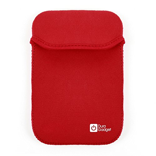(DURAGADGET Reversible RED/Black Water-Resistant Neoprene Case - Compatible with The Boogie Board eWriter Jot 4.5)