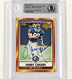 Harry Carson signed 2006 Topps Hall of Fame Class HOF autograph card BGS BAS - Beckett Authentication